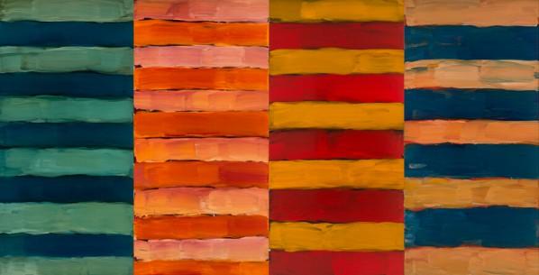 Sean Scully, Four Days, 2015; Oil on aluminum, 279.4x542.3cm