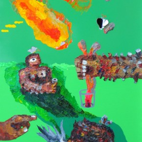 "Yuree Kensaku Hairy Man Can Do 2004 Mixed media 95x60cm 290x290 - Soka Art Center presents ""Behind Foreign Lands – Southeast Asian Contemporary Art"" featuring 17 artists"