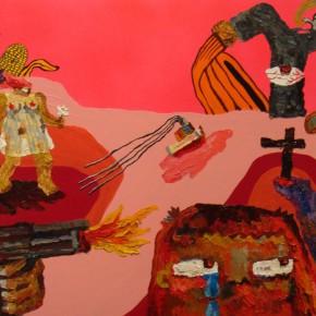 "Yuree Kensaku Hairy Man can do 2007 Mixed media 65x100cm 290x290 - Soka Art Center presents ""Behind Foreign Lands – Southeast Asian Contemporary Art"" featuring 17 artists"