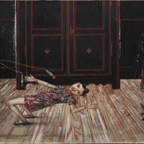 06 Pierre Carron, The Quarrel beside a Rope Skipping, oil painting, 300 x 200 cm, 2015