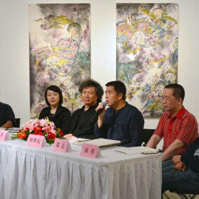 "06 View of the press conference 290x290 - New Visual Experience of Ink: ""Perception with Newfangled Zhang Wei's Works Exhibition"" opened at the Today Art Museum"
