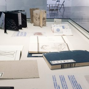 07 The artworks of books of the Studio 5 Printmaking Department at CAFA are on shown in the showcase  290x290 - Free Expression Beyond the Rule: Works by Studio 5, Printmaking Department at CAFA debuted at the Chinese Printmaking Art Festival