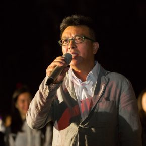 10 CAFA professor Liu Xiaodong recalled his memories when he studied at CAFA at the ceremony