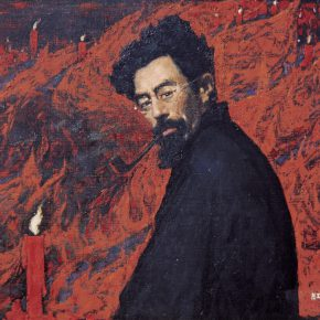 "12 Wen Lipeng Ode to the Red Candle oil on canvas 70 x 101 cm in the collection of National Art Museum of China 290x290 - The Solemn and Noble: ""Marks in Mind – Wen Lipeng Oil Painting Art Exhibition"" grandly opened at the NAMOC"