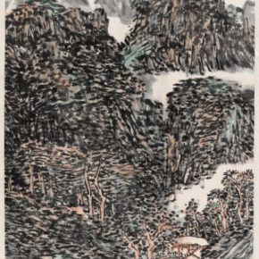 "13 Wang Yong 3737 2 Simulation of Huang Binhong's Landscape Painting of Parched Ink 68.5 x 46 cm 290x290 - ""Cultivation in the Garden of Art"" Exhibition of Wang Yong's New Works opens at Taiyuan Art Museum"