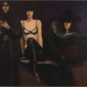 15 Arnaud d'Hauterives, Birds of Night, oil painting, 300 x 200 cm, 1973