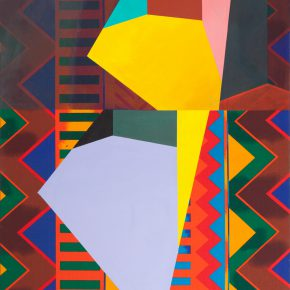 17 Guy de Rougemont, The Three Spaces on the Delonix Regia, acrylic on canvas, 100 x 81 cm, 1997