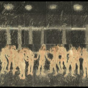 22 Xing Yanchao Bathing group paintings sequence no.2 ink on paper mixed media 116 x 91 cm 2015 290x290 - CAFA Graduation Season 丨Case Observation of Mural: Xing Yanchao – Walking Between the Reality and Ideal
