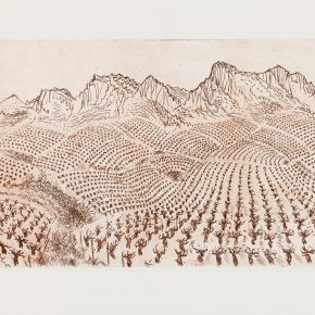 26 René Quillivic, The Vineyard of Gigondas, printmaking, 35 x 18 cm, 2000