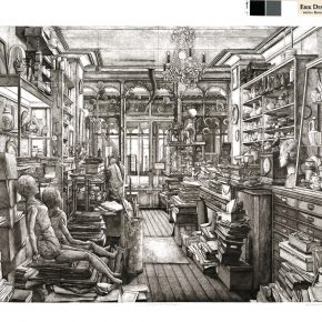 28 Erik Desmazieres, Robert Capa Store, printmaking, 84 x 105.5 cm, 2008