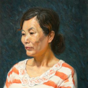 28 Xing Yanchao Woman's Portrait oil painting 290x290 - CAFA Graduation Season 丨Case Observation of Mural: Xing Yanchao – Walking Between the Reality and Ideal