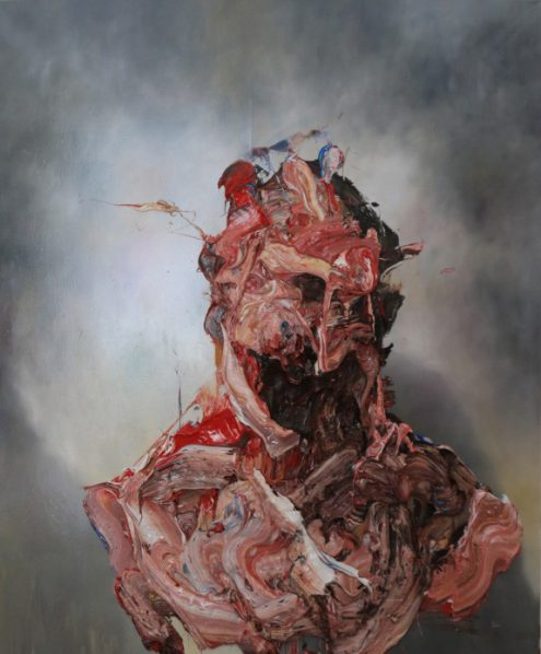Antony Micallef, Raw Intent No. 1, 2016; Oil with Beeswax on French Linen, 135x112cm