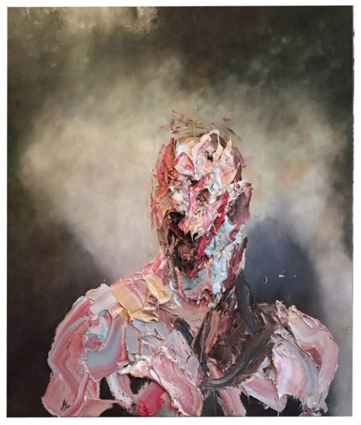 Antony Micallef, Raw Intent No. 2, 2016; Oil with Beeswax on French Linen, 153x132cm