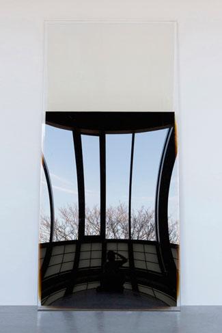 Chou Shih Hsiung, Half Full Half Empty, 2013; Crude Oil, perspex, 220x100x6cm