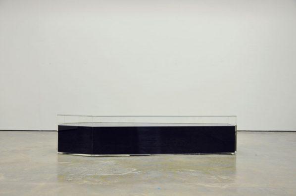Chou Shih Hsiung, One Hundred Million Years, 2012; Crude Oil, 190x60x45cm