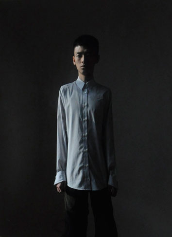 Chou Shih Hsiung, Self Portrait of Chou Shih Hsiung in Oil Painting, 2012; C-print, Dimensions variable