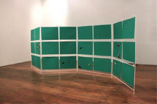 Haffendi Anuar, Screen Dream, 2015; installation, variable size