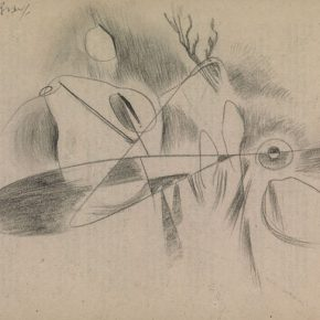 Ho Kan, Imagery 12, 1955; Pencil on paper, 19.2x27.1cm