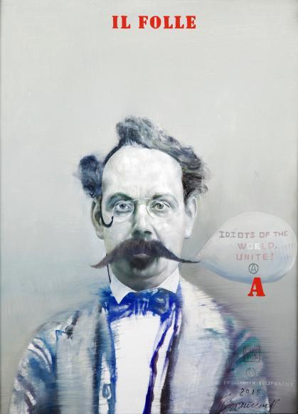 Konstantin Bessmertny, The Fool; Oil on canvas, 45.5x35.5cm