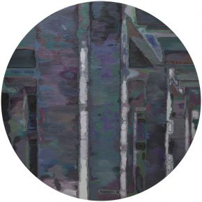 Li Yiwen Disordered Structure Ⅱ Acrylic on canvas Round 150 cm diameters 2015 1 290x290 - Integrative Structure: Li Yiwen Solo Exhibition Opened at Leo Gallery, Hong Kong