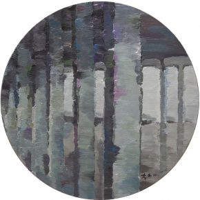 Li Yiwen Disordered Structure Ⅳ Acrylic on canvas Round 120 cm diameters 2015 1 290x290 - Integrative Structure: Li Yiwen Solo Exhibition Opened at Leo Gallery, Hong Kong