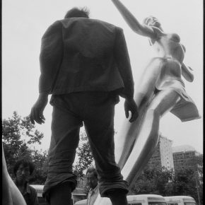 Pan Ke, An uncompleted sculpture in front of a hotel, Xi'an, 1988
