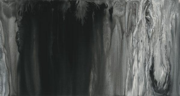 Sun Hao, Glacier, 2016; Ink on paper, 140x193cm