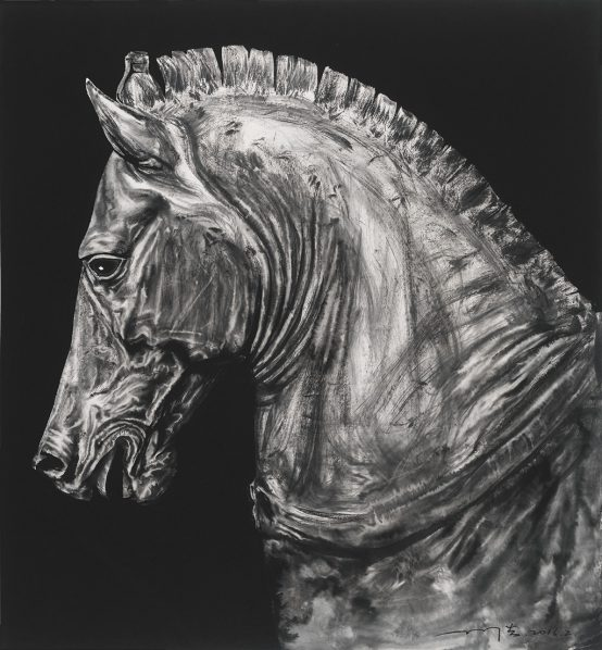 Sun Hao, Portrait of the Horse No.2, 2016; Ink on paper, 97x90cm