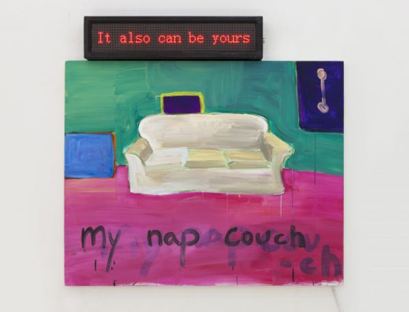 Tan Tian, My nap couch, it also can be yours, 2016; painting, 100x95cm