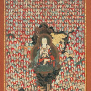Thousand Ksitigarbhas, Hanging scroll, color on silk; Edo period (17th century)