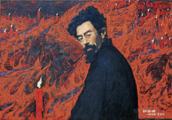Wen Lipeng, Ode to the Red Candle; Oil on canvas
