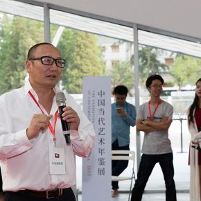 "02 Exhibition curator and the organizer of the ""Annual Contemporary Art of China"" Prof. Lao Zhu 290x290 - The Exhibition of Annual of Contemporary Art of China 2015 Opened at Beijing Minsheng Art Museum to Celebrate Its First Anniversary"