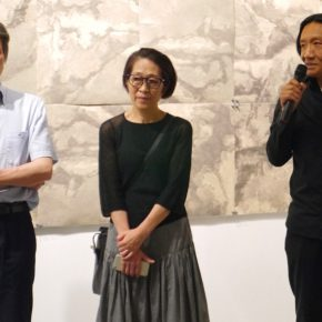 """03 Artist Su Xinping expressed his thanks for the holding of the exhibition at the opening ceremony  290x290 - Never Disappeared Mental Imagery: """"Horizon – the Exhibition of Su Xinping's Works"""" Showcases New Creations by the Artist"""