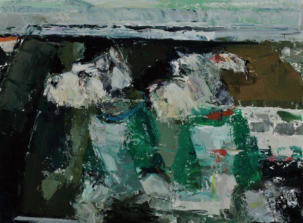 04 Zhou Ting, Kaidi & Kaixi, oil on canvas, 60 x 80 cm