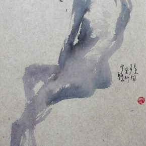 08 Zhang Wen a figure sketch of ink painting during the undergraduate years 290x290 - CAFA Graduation Season丨Case Observation of Chinese Painting: Zhang Wen – Chinese Painting is A World, Where I am Enlightened and Grow Up