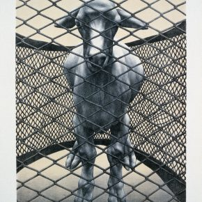 """09 Su Xinping A Sheep in the Net No.1 lithograph 58 × 43 cm 1992 290x290 - Never Disappeared Mental Imagery: """"Horizon – the Exhibition of Su Xinping's Works"""" Showcases New Creations by the Artist"""