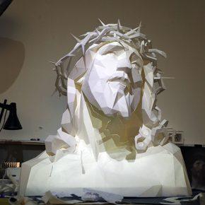 10 Gao Zhenpeng, Savior of the New Century, rice paper, LED light, 2015