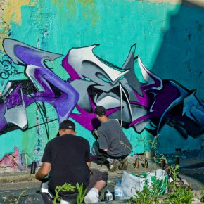 "10 Graffiti Artist in Action 290x290 - The Group Exhibition ""Street Art: a global view"" Opening July 1 at CAFA Art Museum"