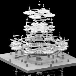 "13 3D model of Gao Zhenpeng's graduation creation ""Thank Goodness It Can Turn"""