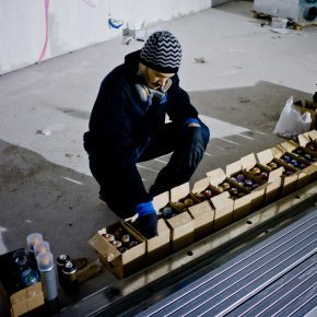 "14 Artist preparing spray cans 290x290 - The Group Exhibition ""Street Art: a global view"" Opening July 1 at CAFA Art Museum"