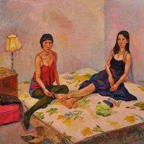 17 Liu Pan Xiaomeng and Yueyue 2016 Oil on canvas 170x175 cm 290x290 - CAFA Graduation Season | Case Study on the School of Fine Arts: Liu Pan –  From Houshayu to Huajiadi