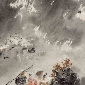 18 Zhang Wen Return in the Rain ink on paper 100 x 66 cm 2016 290x290 - CAFA Graduation Season丨Case Observation of Chinese Painting: Zhang Wen – Chinese Painting is A World, Where I am Enlightened and Grow Up