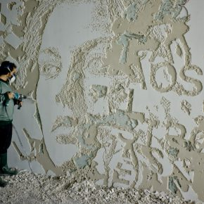 "20 Artist VHILS at work 290x290 - The Group Exhibition ""Street Art: a global view"" Opening July 1 at CAFA Art Museum"
