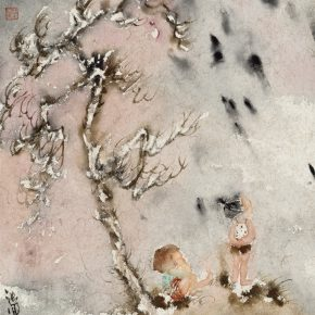 20 Zhang Wen Purple Night 2015 290x290 - CAFA Graduation Season丨Case Observation of Chinese Painting: Zhang Wen – Chinese Painting is A World, Where I am Enlightened and Grow Up