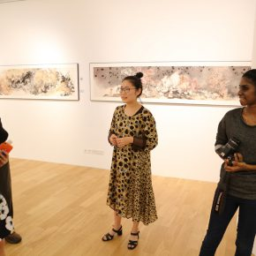 21 Zhang Wen's exhibition held in Singapore during the postgraduate years 290x290 - CAFA Graduation Season丨Case Observation of Chinese Painting: Zhang Wen – Chinese Painting is A World, Where I am Enlightened and Grow Up