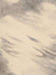 22 (Part of the participating work) Qiu Ting, Water and Clouds in Hunan, ink on paper, 246.5 x 52.5 cm, 2011