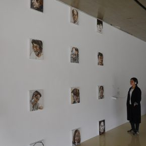23 Egami Etsu Your Voice My Memory mixed media 2016 exhibition view at Tree Art Museum  290x290 - CAFA Graduation Season丨Case Observation of Oil Painting: Egami Etsu – Rethinking of the Language Communication between Acoustic Waves and Optical Waves
