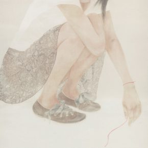 26 Xu Hualing, Eternal Beauty No.6, color and ink on silk, 240 x 130 cm, 2008