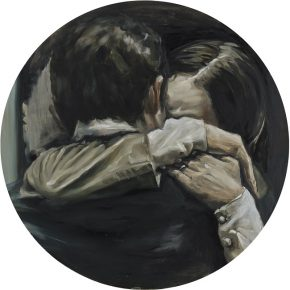 Chen Han, Carry Me Through the Night, 2016; Oil on canvas, diameter 100cm