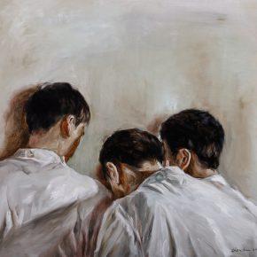 Chen Han, Plotting Against a Sad Punishment, 2012; Oil on canvas, 100x120cm